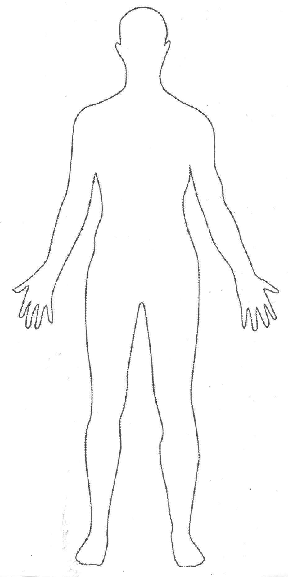 It is an image of Persnickety Printable Human Body Outline Template Pdf