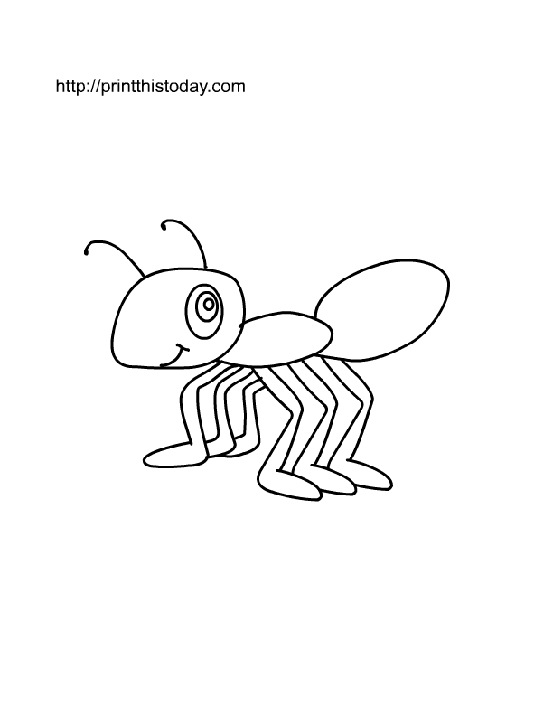 Ants Marching Coloring Pages Download And Print For Free