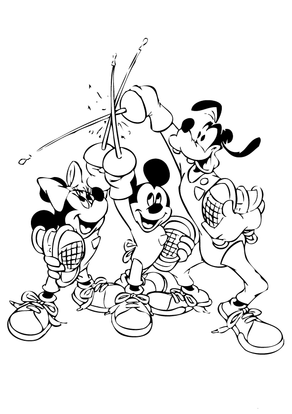 Epic mickey coloring pages download