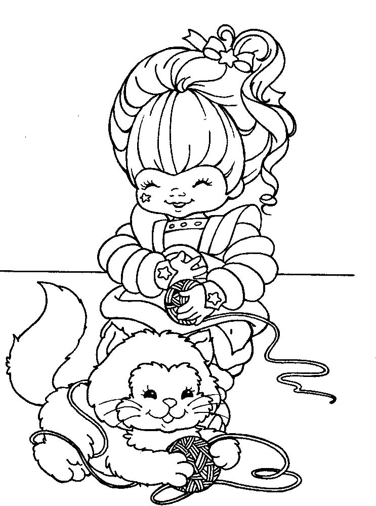 Rainbow brite coloring pages to