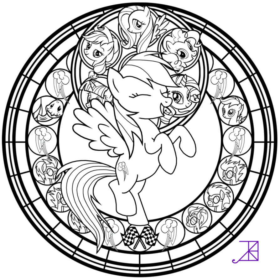 Rainbow dash coloring pages download and print for free
