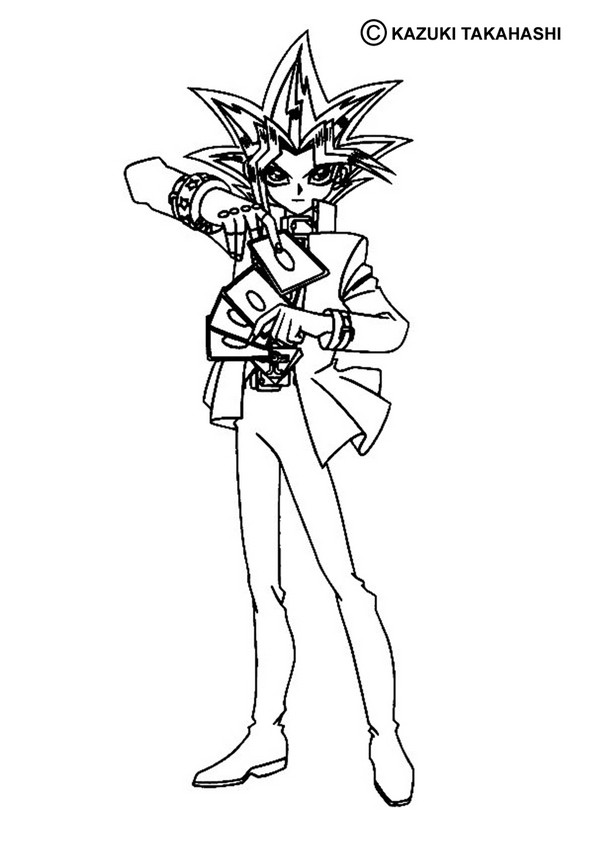 Yu gi oh coloring pages to download