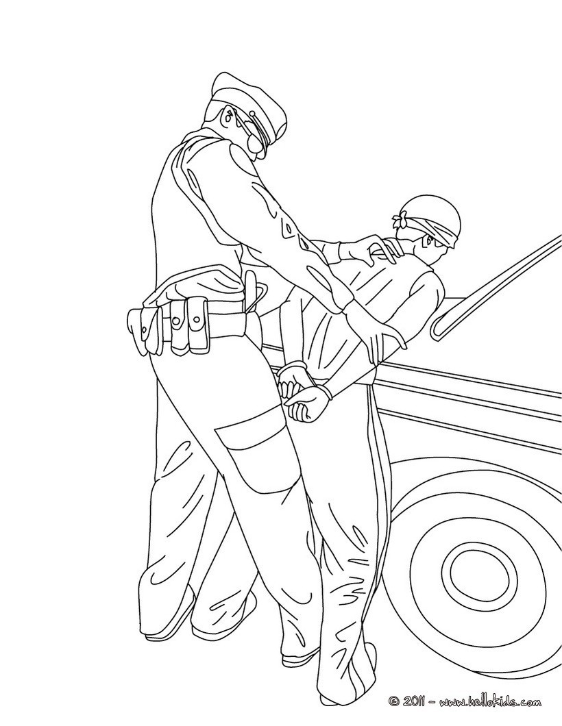 Police officer coloring pages to download and print for free - Police coloriage ...