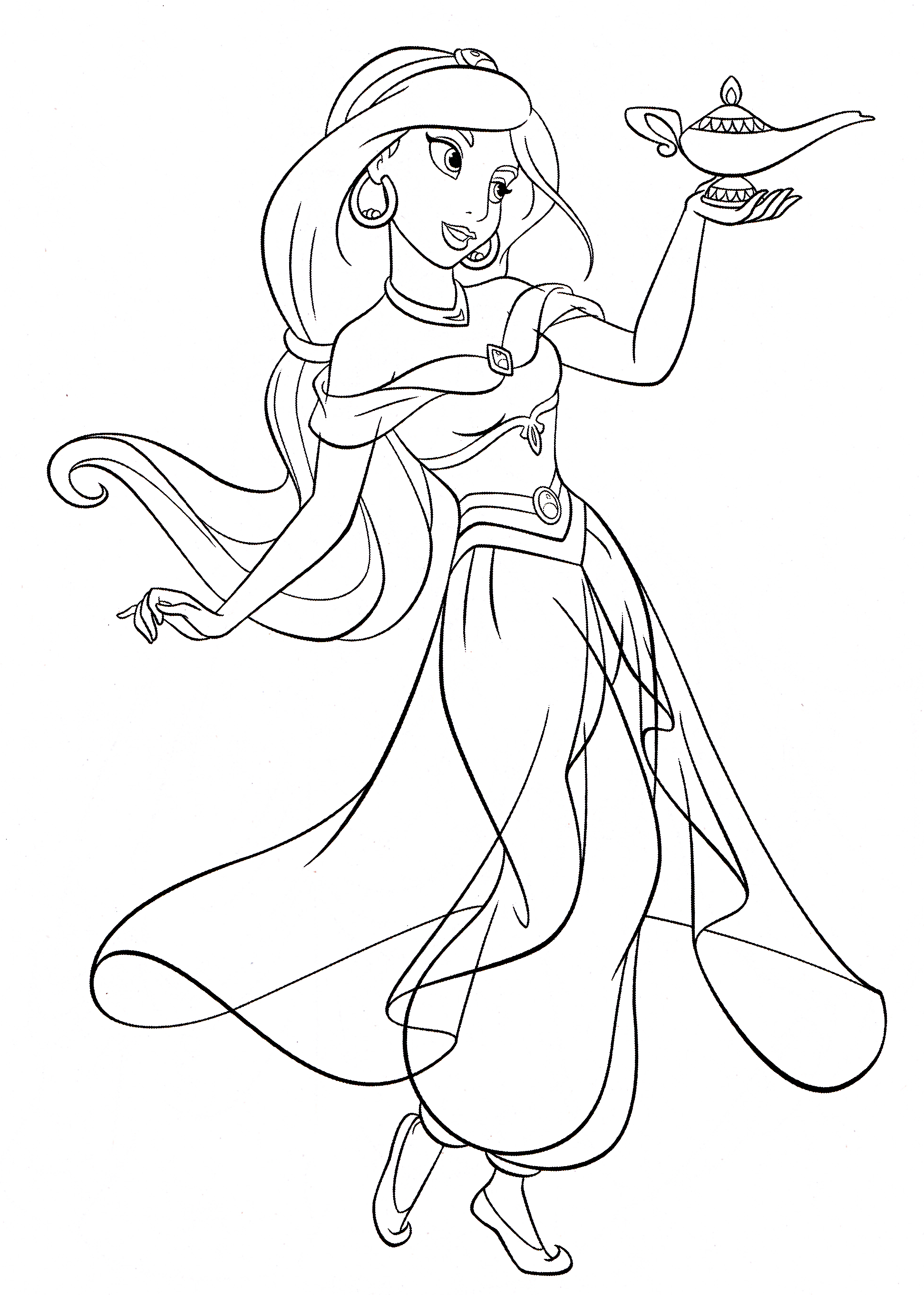 jasmine coloring pages to print - photo#10