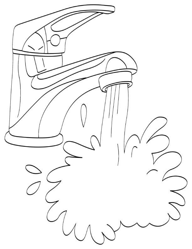 water splash coloring pages - photo#17
