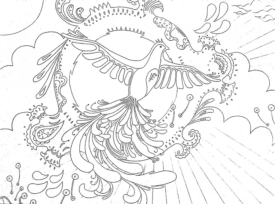 Phoenix coloring pages to download