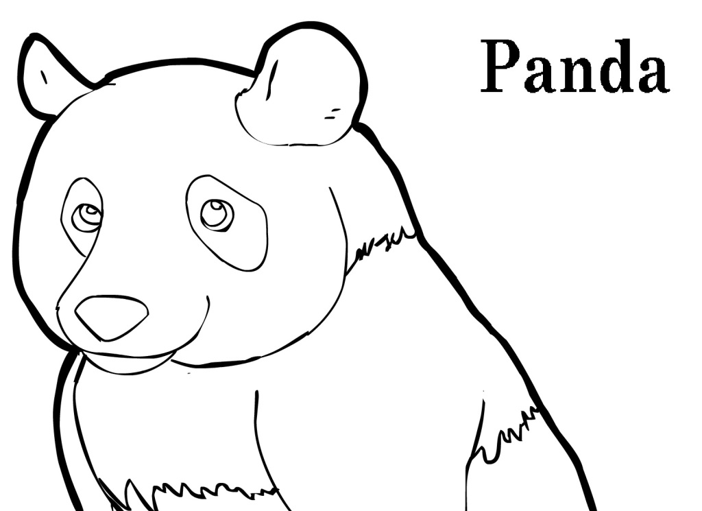 Panda bear coloring pages to download and print for free