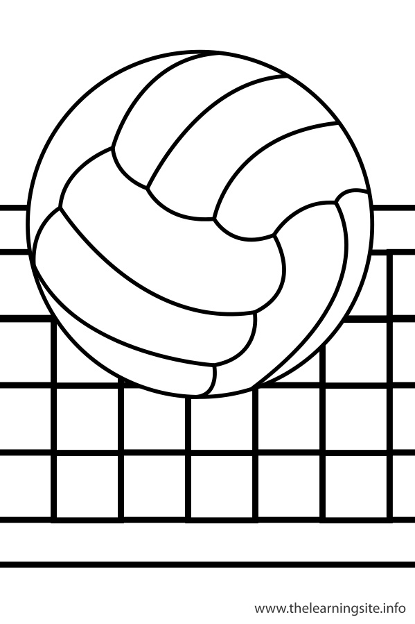 Volleyball coloring pages to download