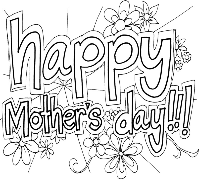 Mother Day Coloring Pages Mothers
