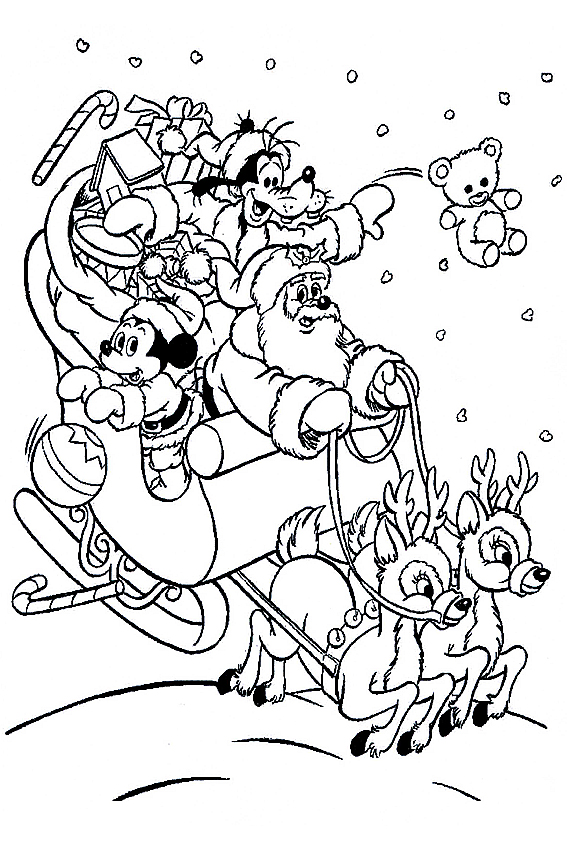 Mickey Mouse Christmas Coloring Pages To Download And