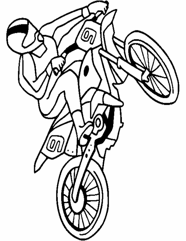 Motocross coloring pages to download