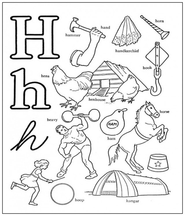 h coloring pages - photo#26
