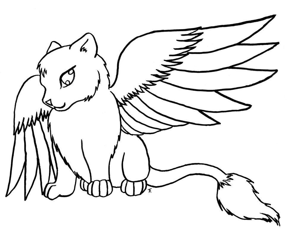 Cute Kitten Coloring Pages Cat Color Printable