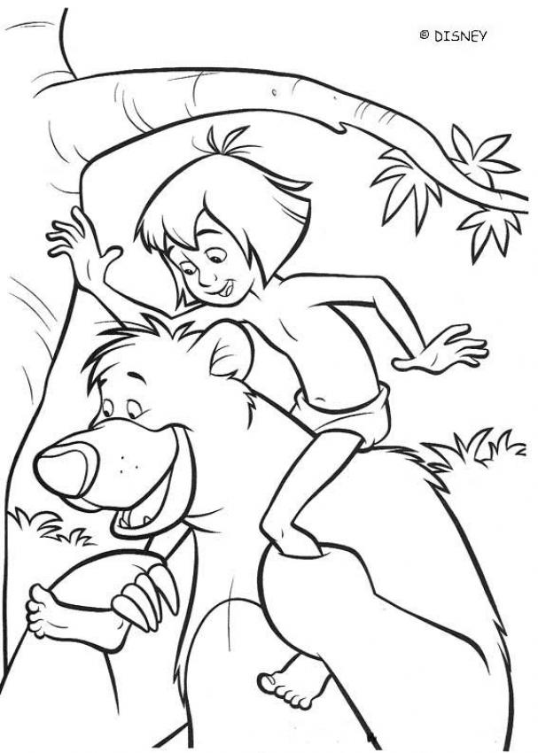 Disney Wolves Jungle Book Coloring Book - Worksheet & Coloring Pages