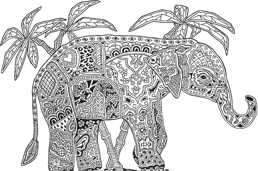 Intricate coloring pages for adults to download and print for free