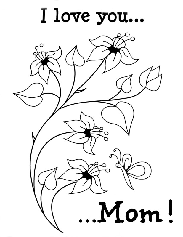 I Love You Mom Printable Coloring Pages  Coloring Pages