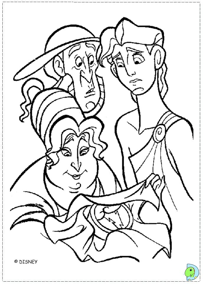 Hercules coloring pages to download