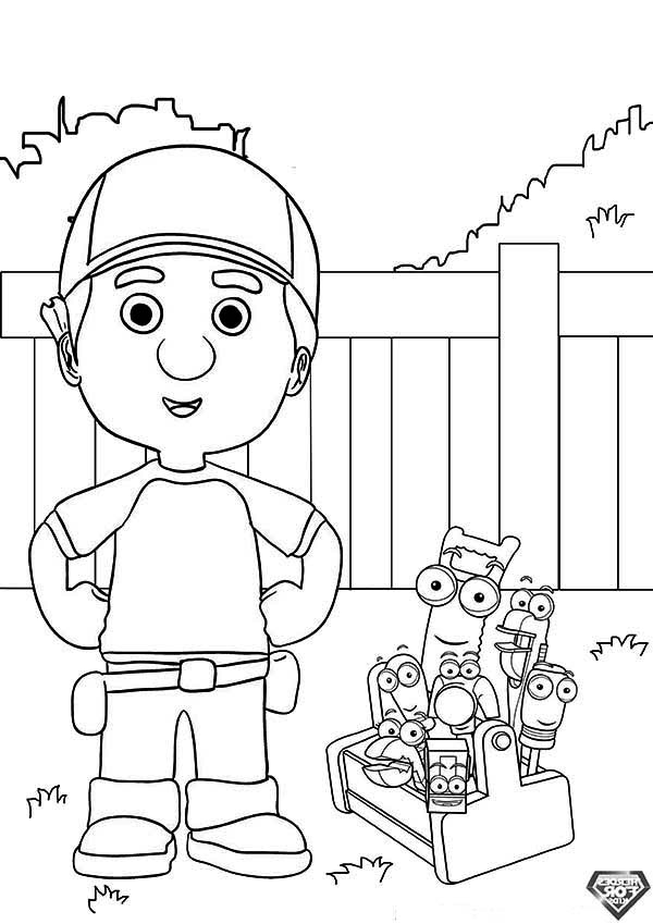 handymanny coloring pages - photo#31