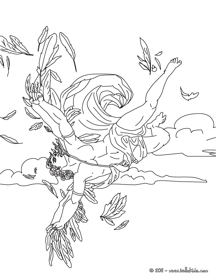 greek mythogy coloring pages - photo#8