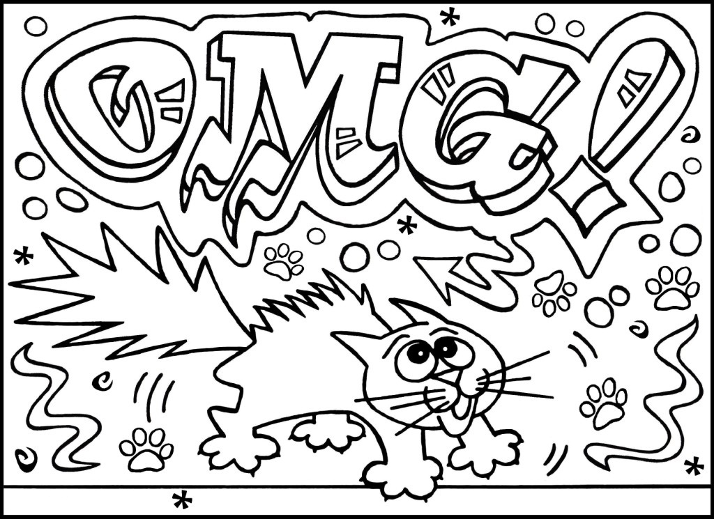 graffiti coloring pages to download and print for free - Graffiti Coloring Pages Printable