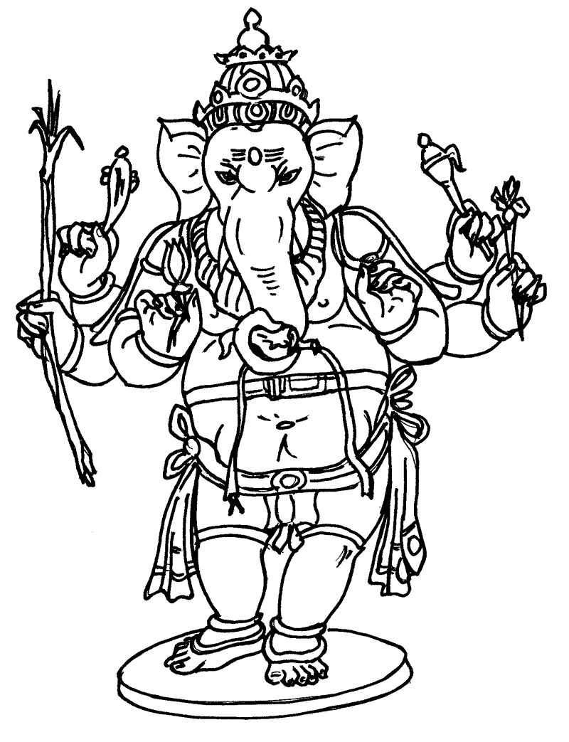 Ganesha coloring pages to download and print for free for Ganesha coloring pages