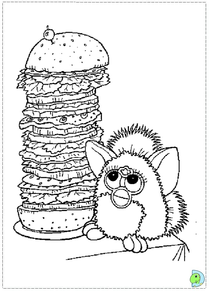 Furby coloring pages to download
