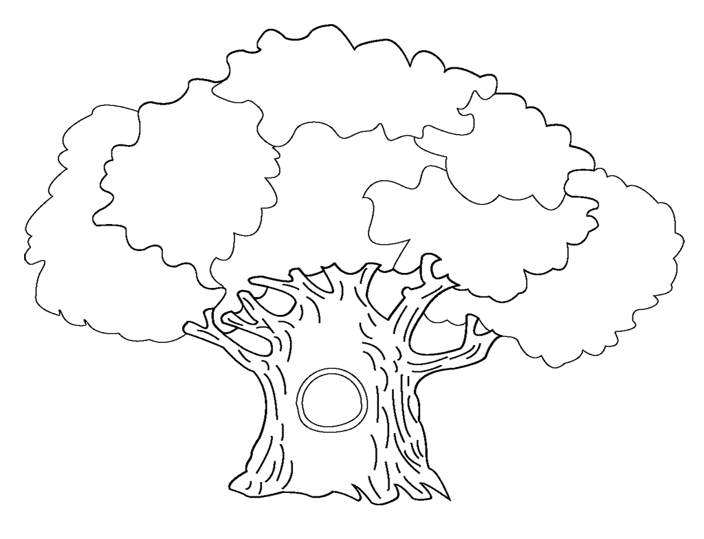 Tree coloring pages to download