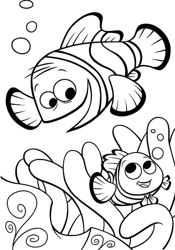 Finding nemo coloring pages to