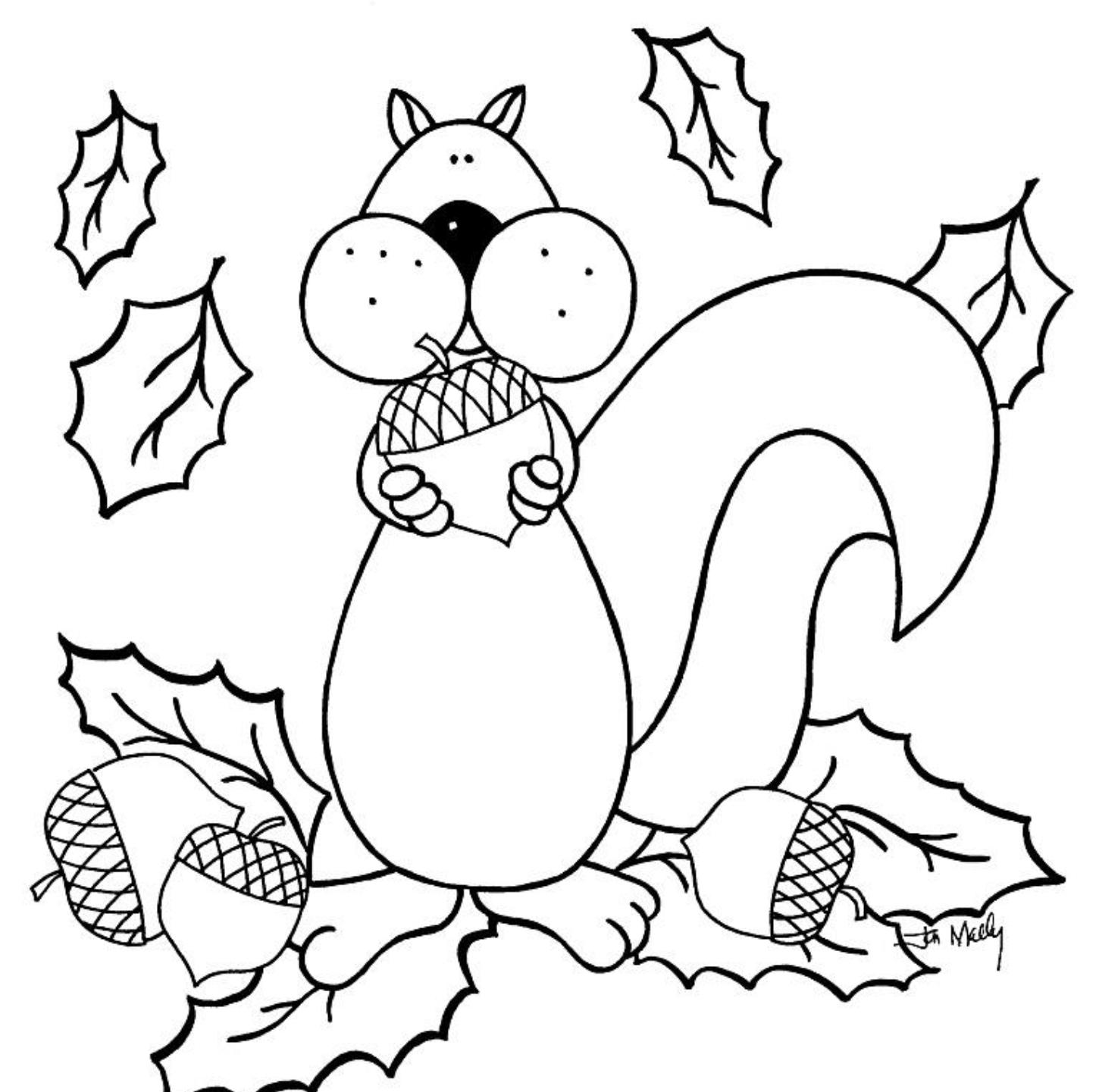coloring pages fall themed - photo#24