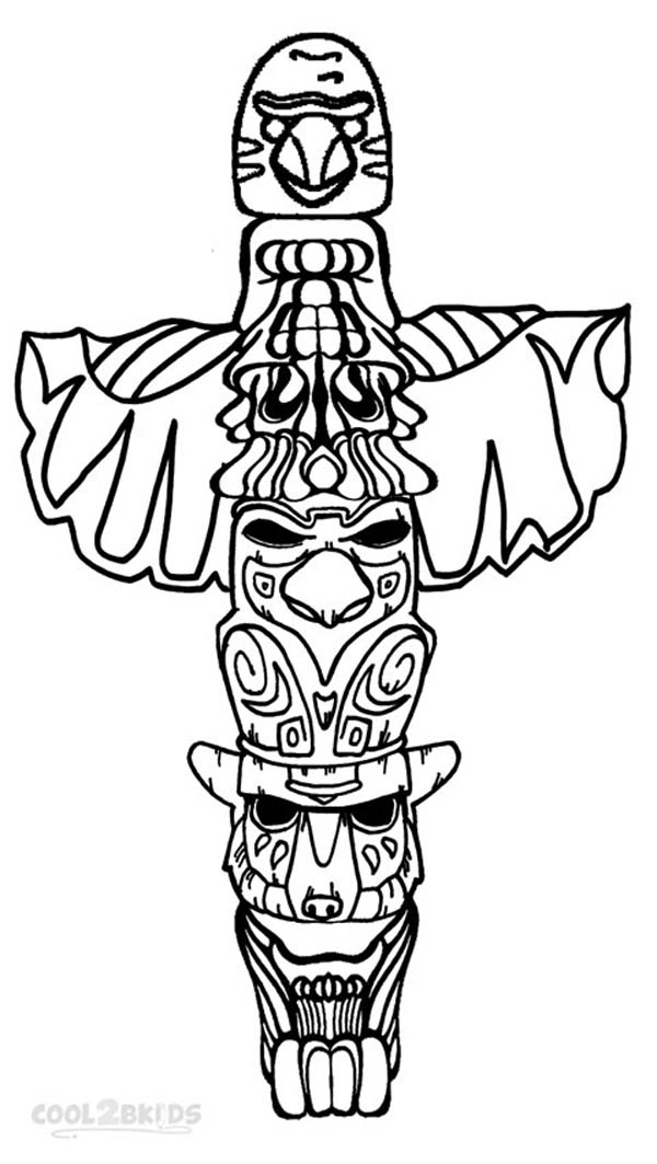 Totem pole coloring pages to download and print for free