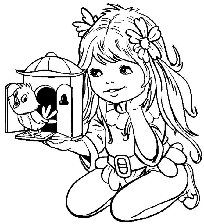Cute girl coloring pages to download and print for free for Coloring pages for girls 10 and up