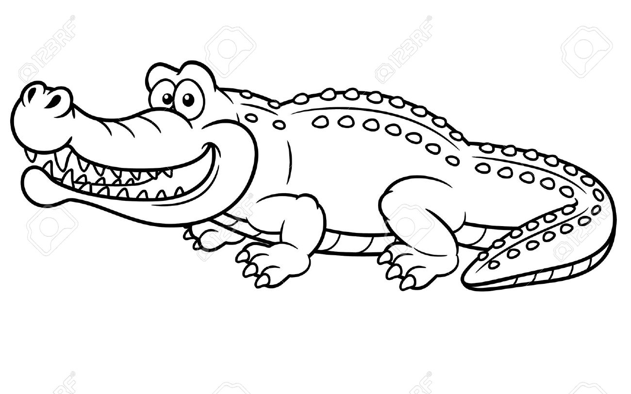 Crocodile coloring pages to download