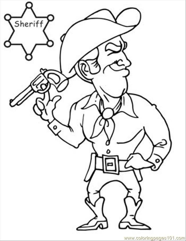 cowboy coloring book pages free-#5