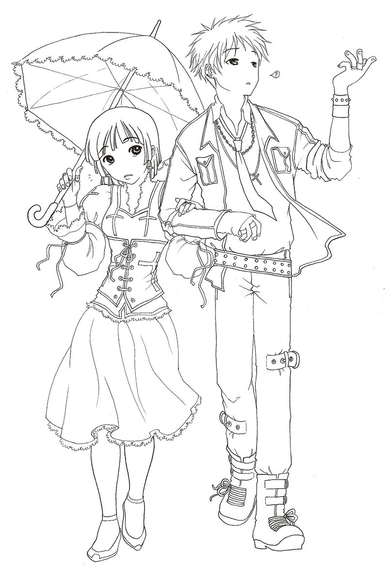 Couple coloring pages to download