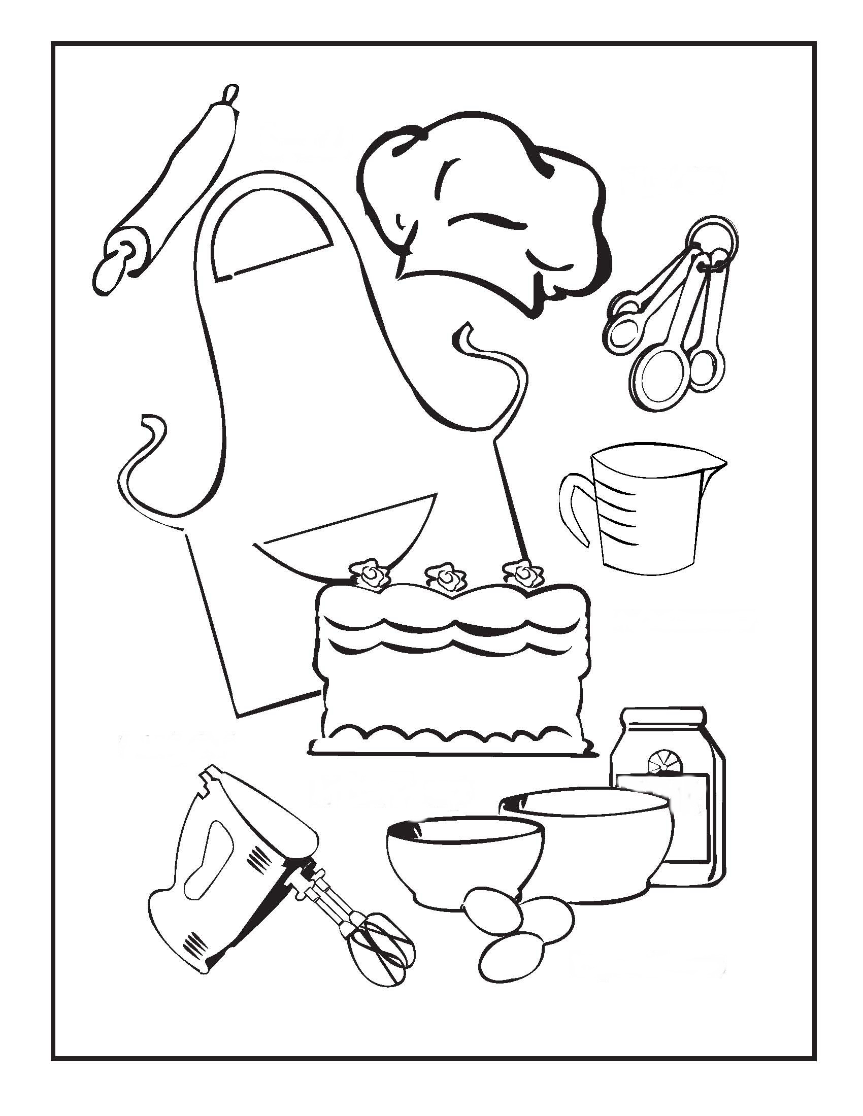 93 ideas Coloring Pages Kitchen Tools on kankanwzcom