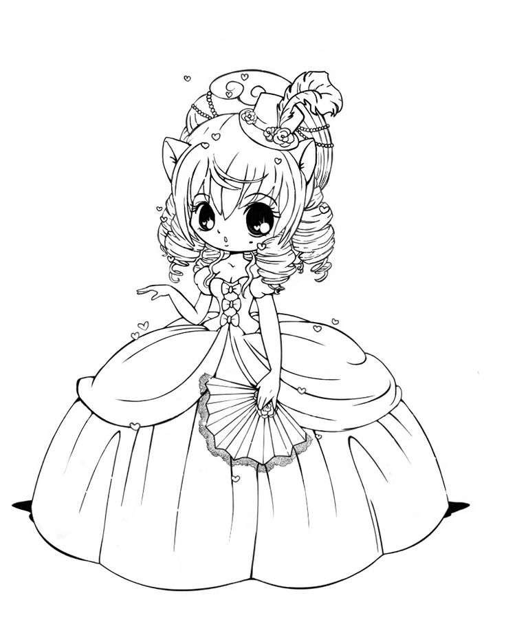 Coloring Pages For Girls: Chibi Coloring Pages To Download And Print For Free