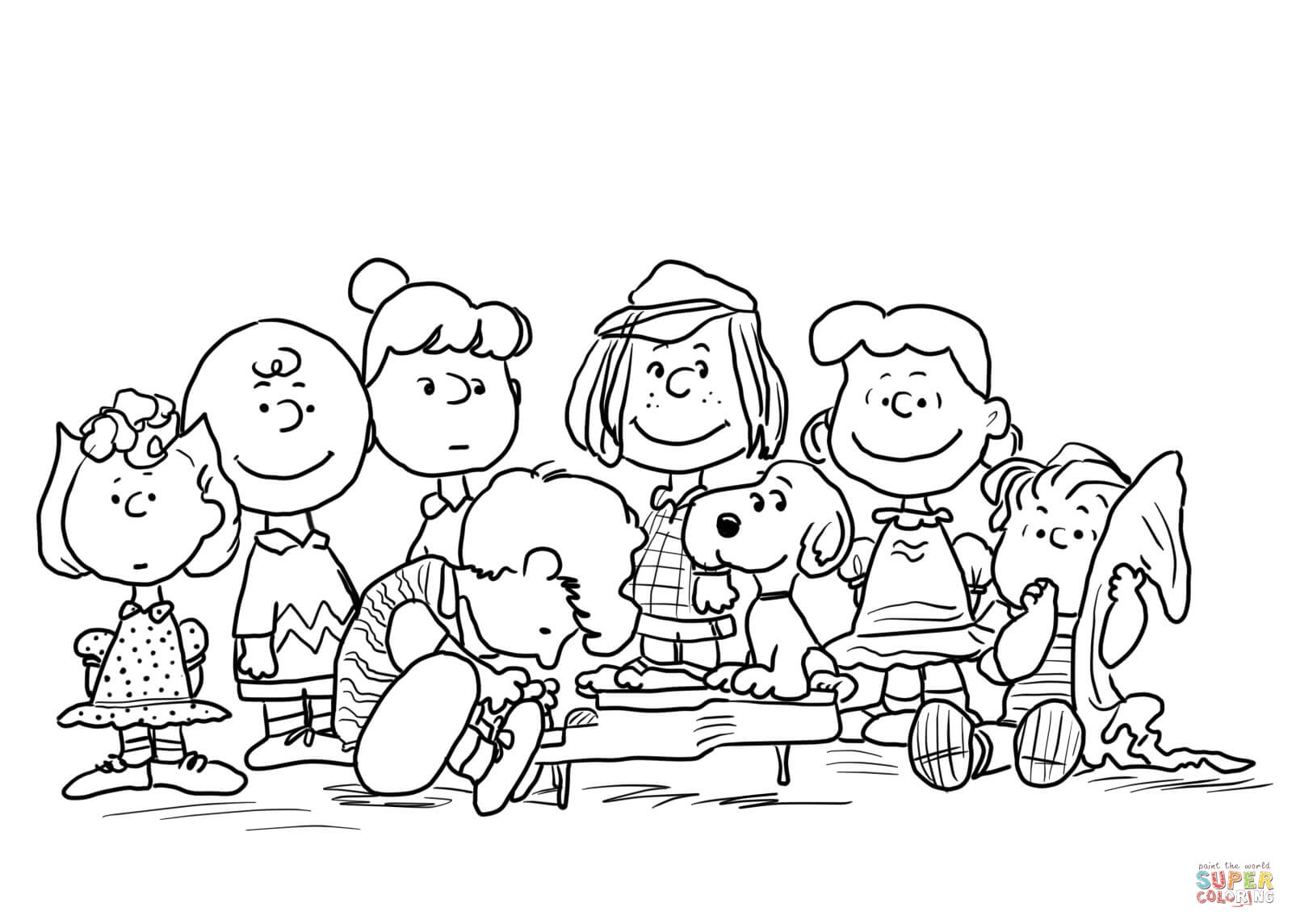 peanuts character coloring pages - photo#3