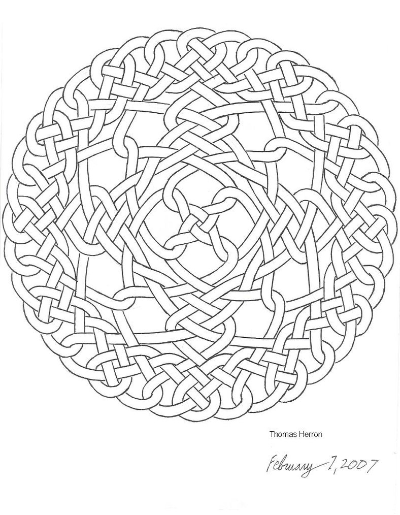 Celtic knot coloring pages to download