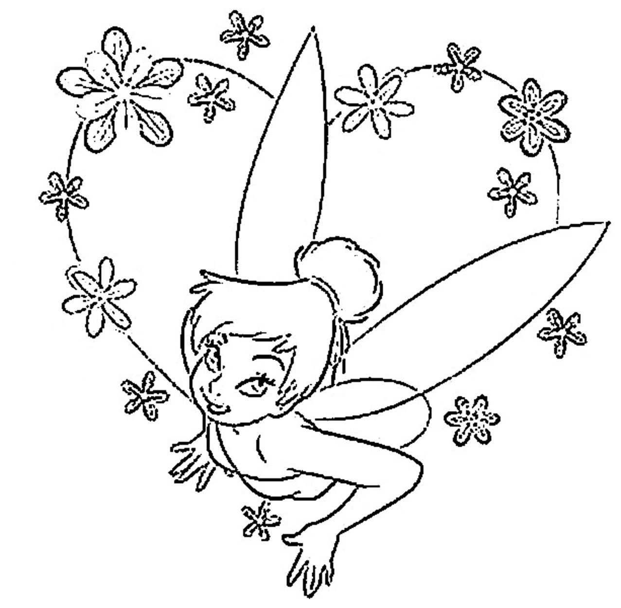Tinker bell coloring pages to download and print for free for Immagini peter pan da colorare