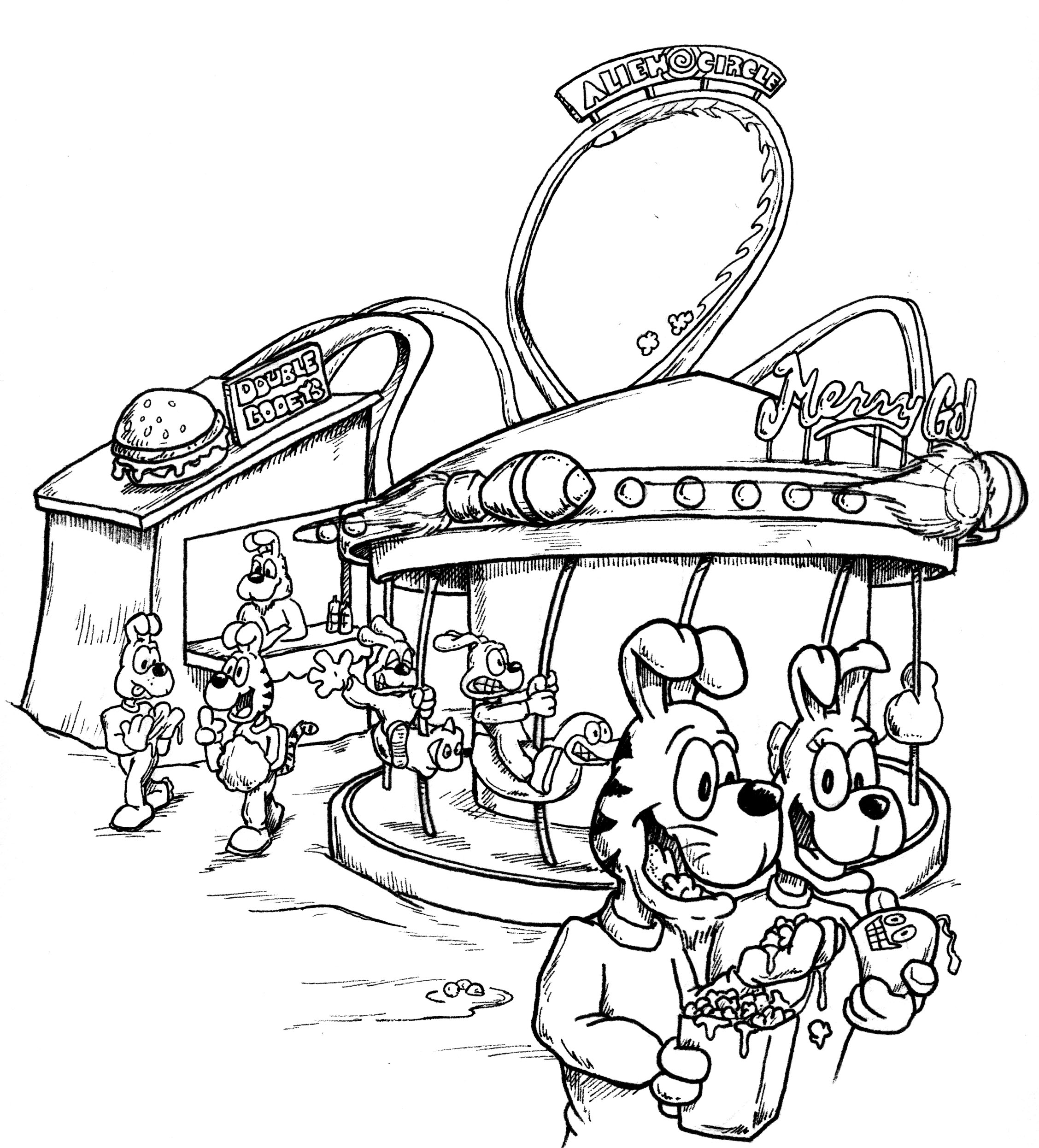 Carnival coloring pages to download