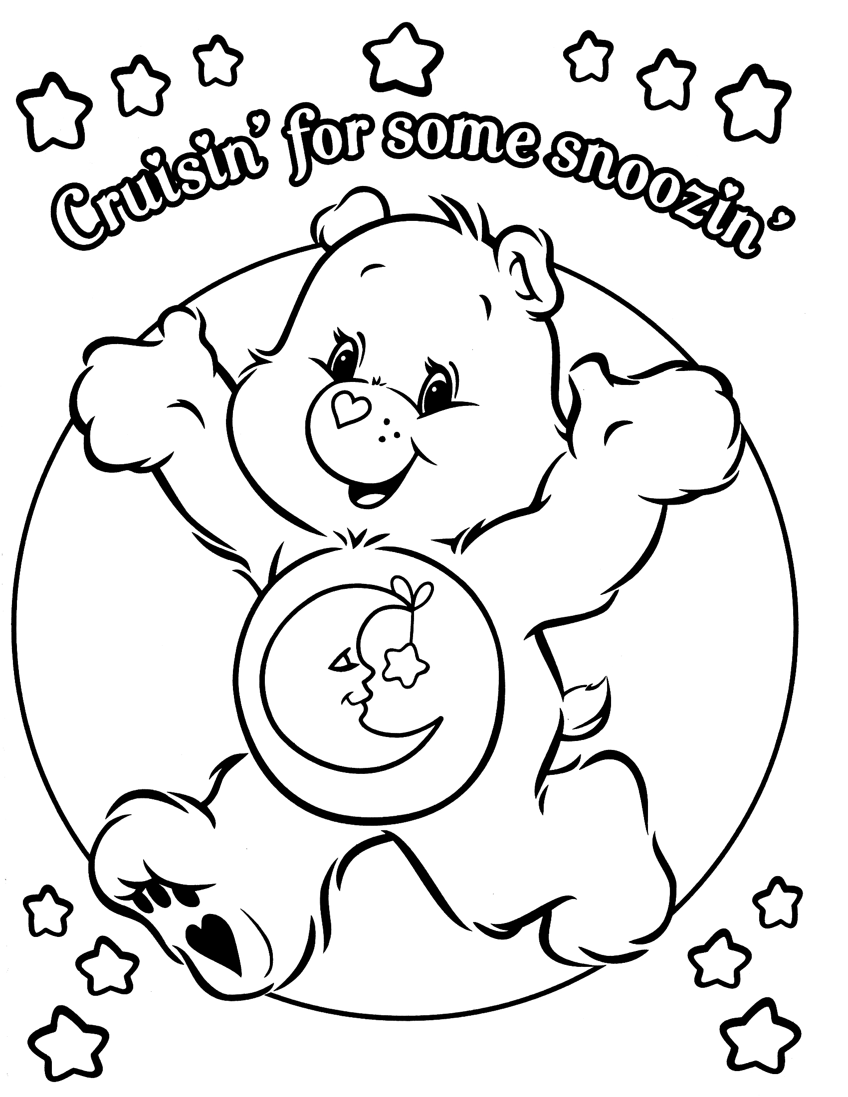 Care bear coloring pages to download