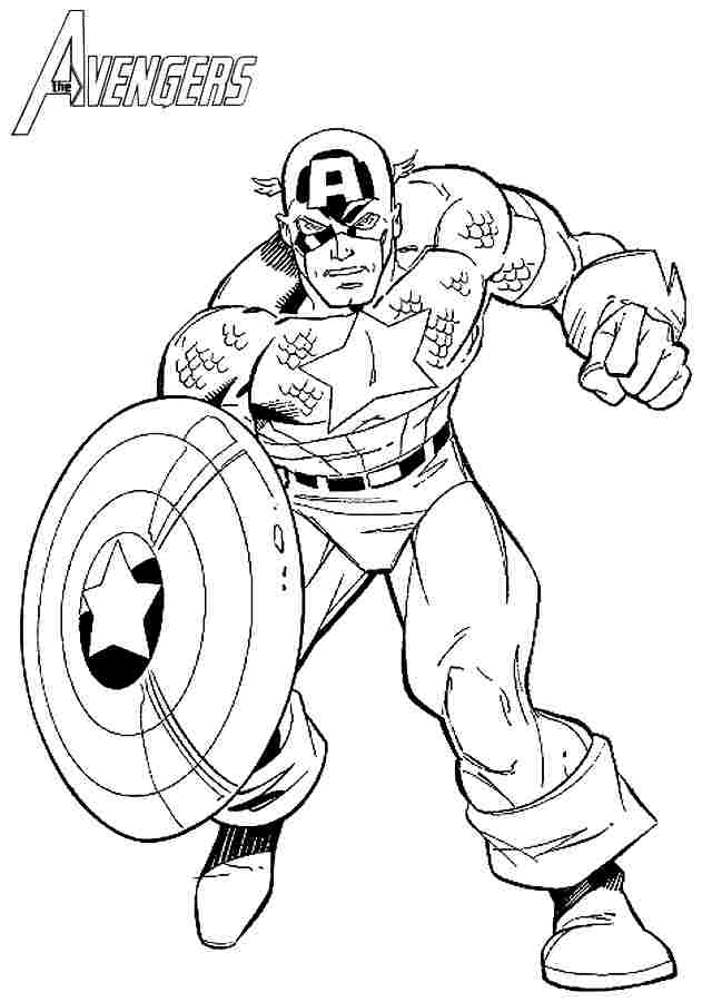 superhero coloring pages captain america - photo#5