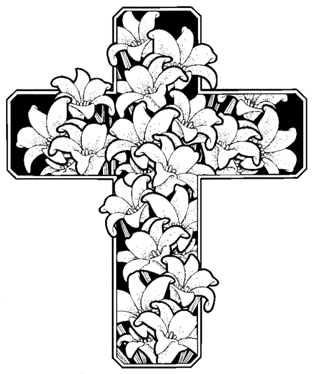 Detailed flower coloring pages to download and print for free for Coloring pages of cross