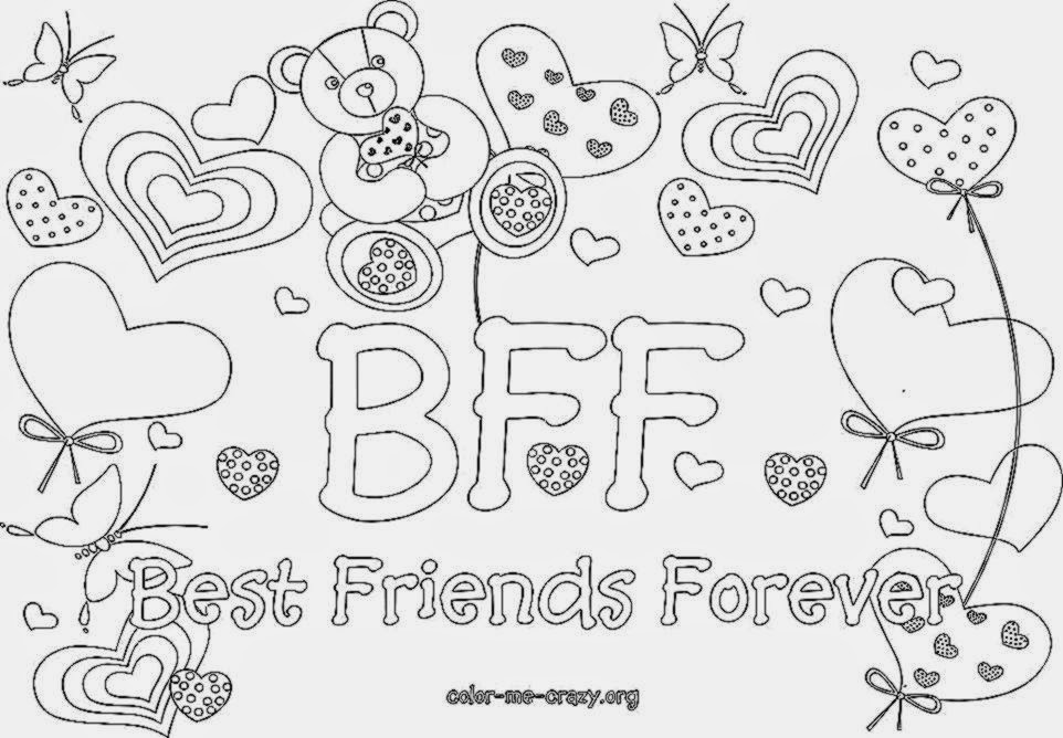 Coloring Pages For Bffs : Bff coloring pages to download and print for free