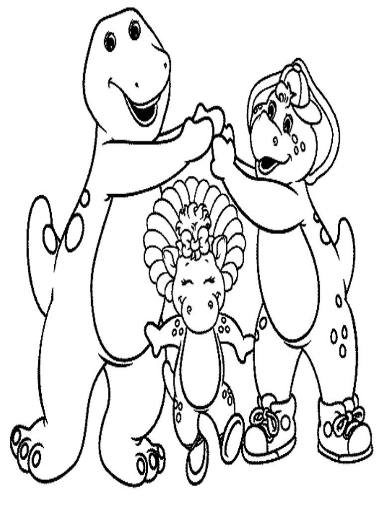 elmo and friends coloring pages - barney coloring pages to download and print for free