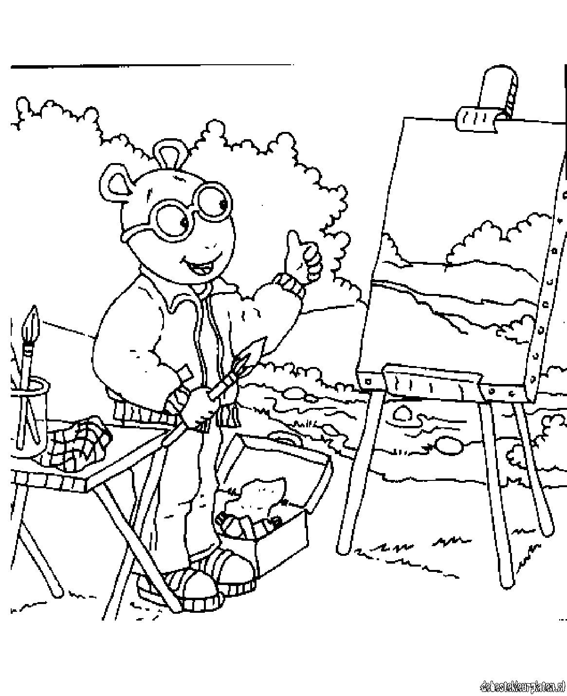 Arthur coloring pages to download