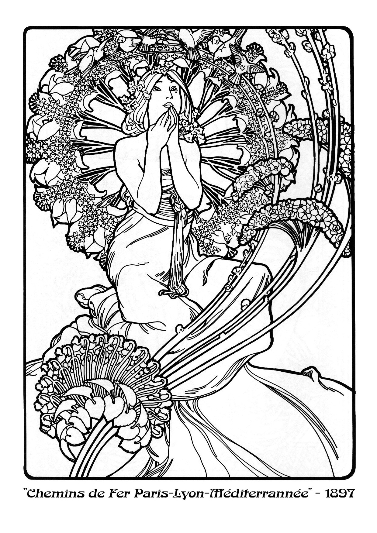 art nouveau coloring pages - photo#10
