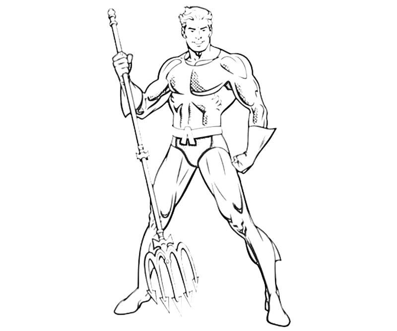 Aquaman Coloring Pages To Download And Print For Free