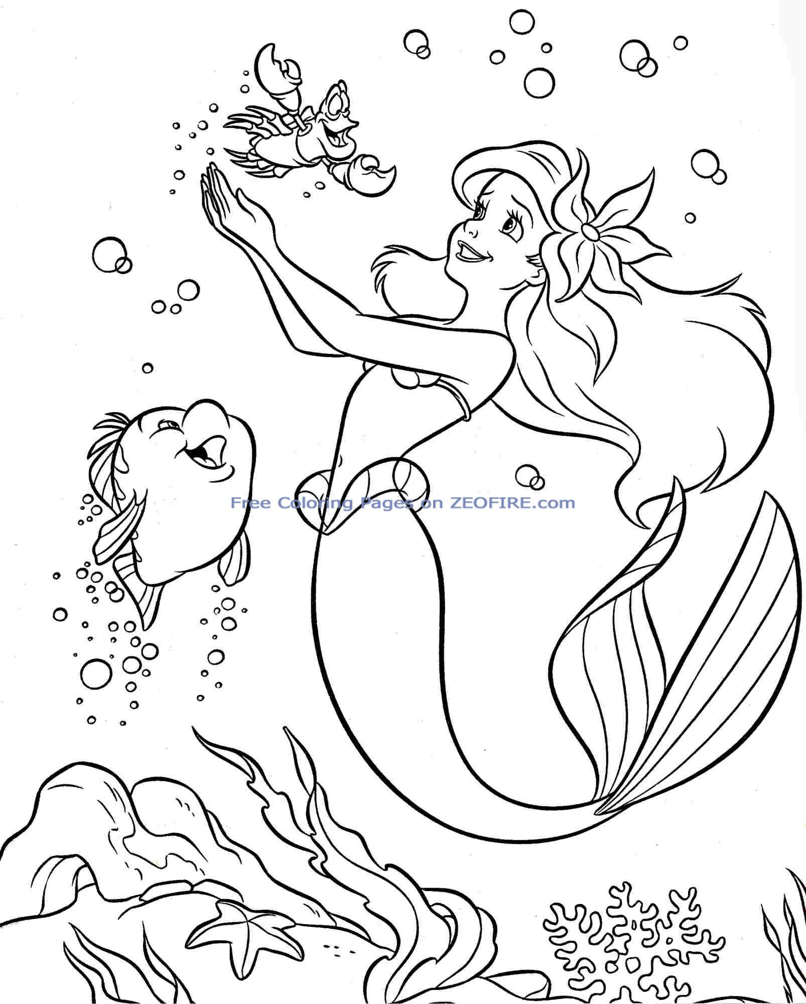 The little mermaid coloring pages to download and print ...