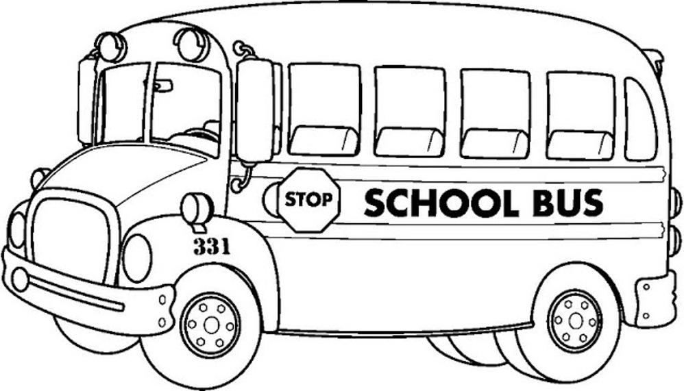 coloring pages bus - photo#2
